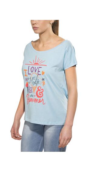 Maloja PattiM. t-shirt Dames blauw